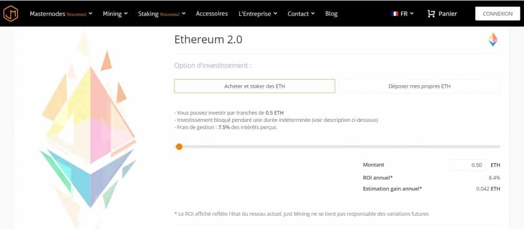 staking ethereum just mining